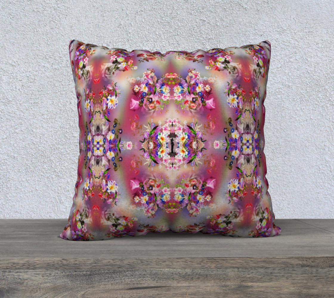 Flowers of wicca pillow preview