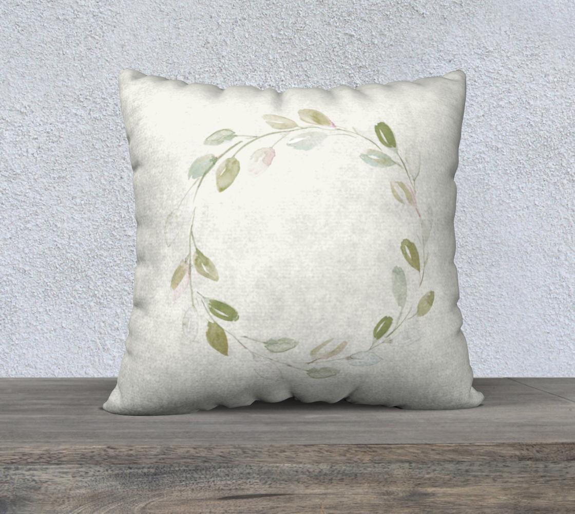Aperçu de Simple Wreath Pillow 22x22