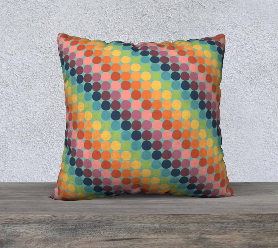 "Diagonal Dotty Throw Pillow Cover - 22"" preview"