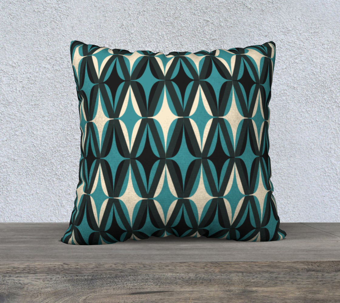 """Midcentury Modern in Teal - 22"""" preview"""