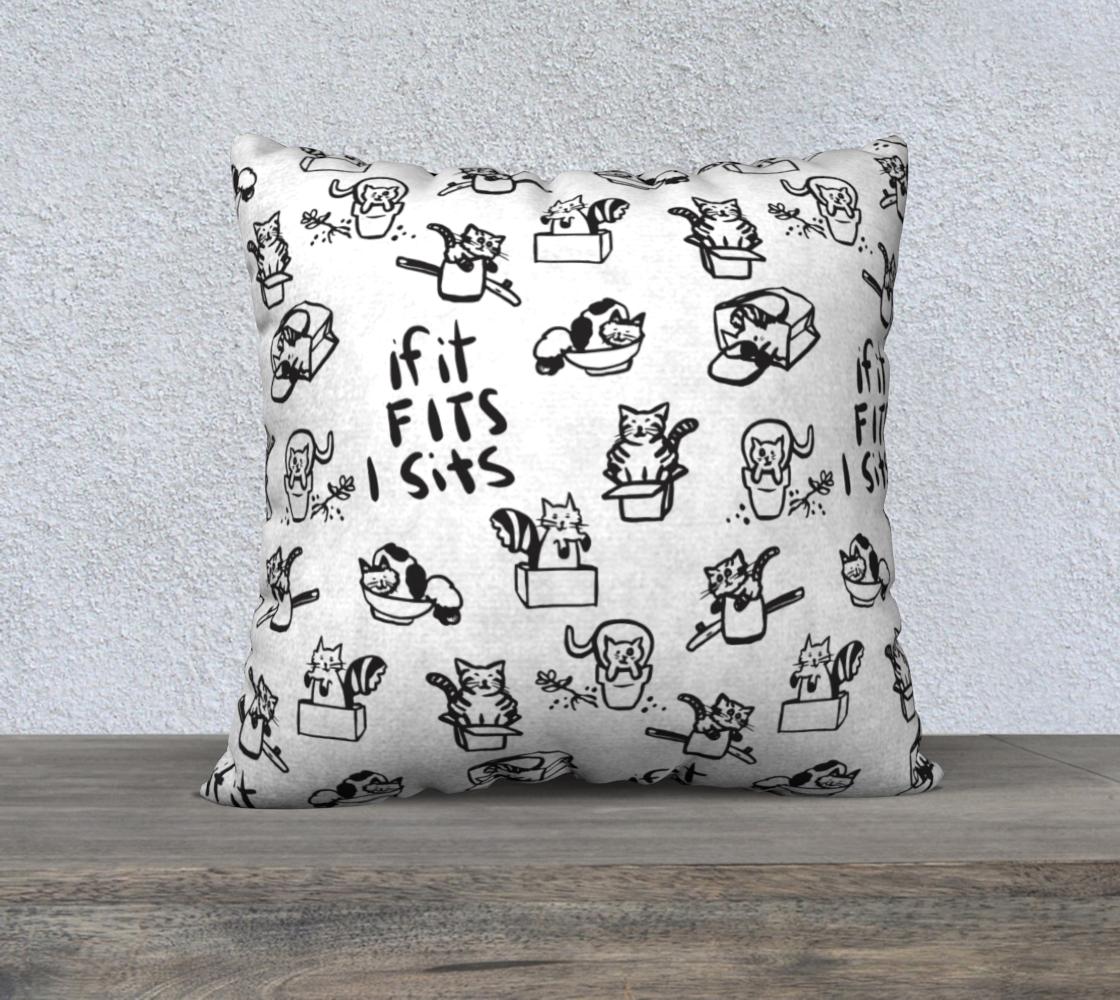 Aperçu de If It Fits I Sits Throw Pillow