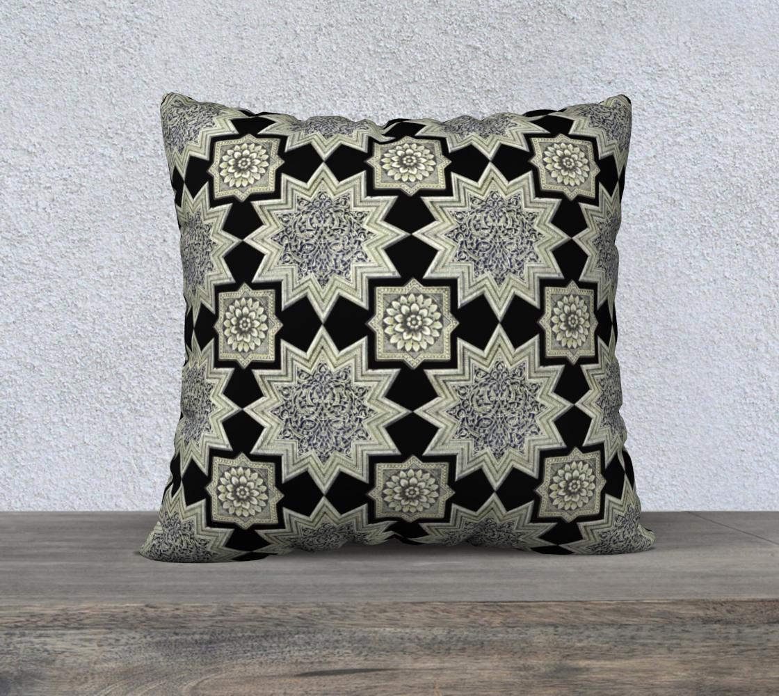 Aperçu de Ornate Star & Rosette Black & White 22