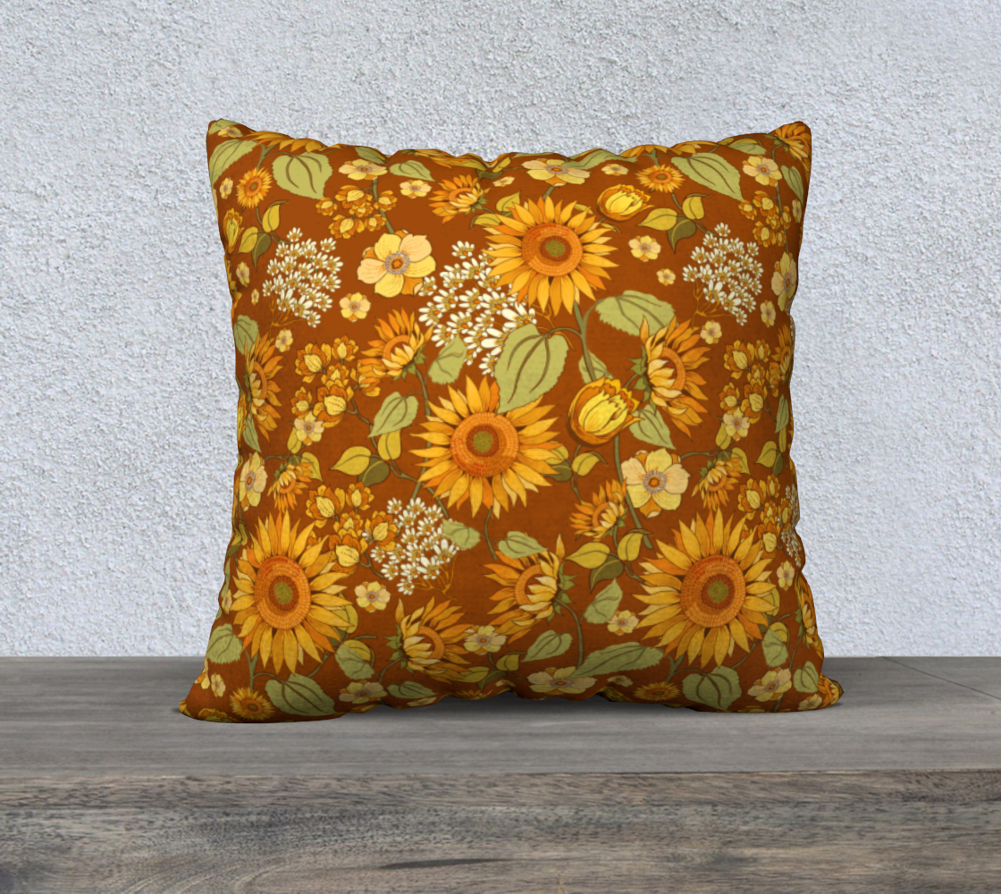 70s Sunflower Vintage 22x22 preview