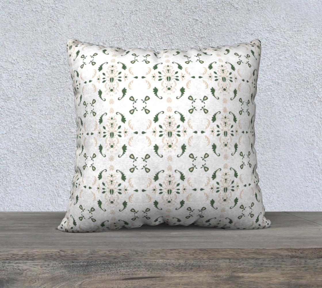 Aperçu de Green and cream cover 22x22