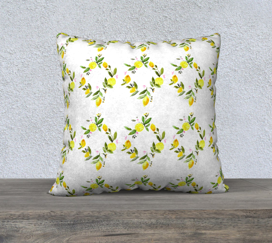 Aperçu de lemon trellis 22x22 cover