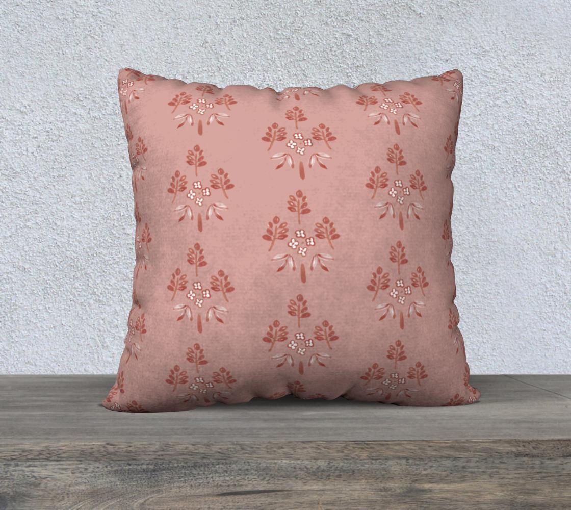 Aperçu de rose pink motif cover 22x22