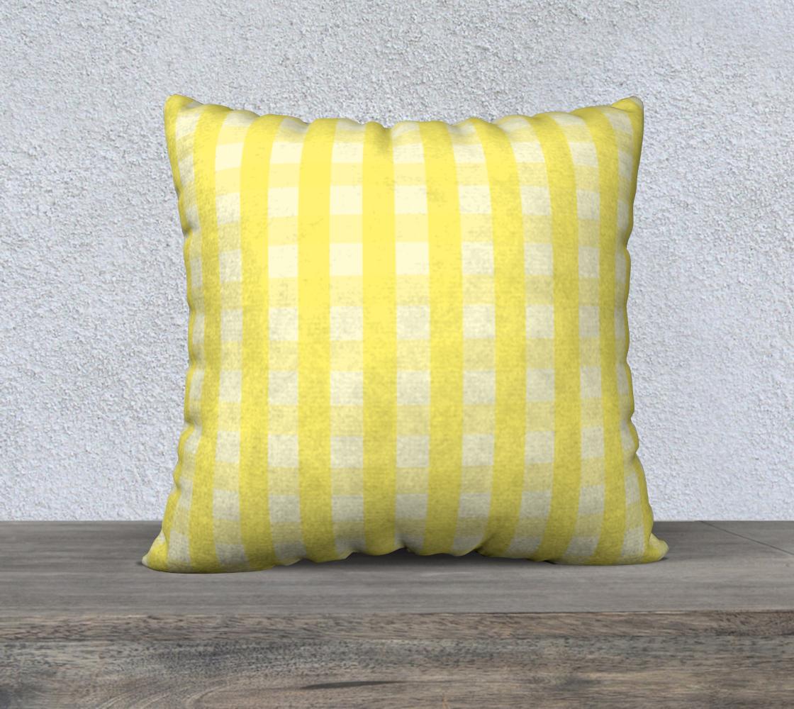 Aperçu de yellow plaid 22x22 cover #2