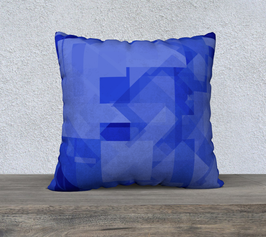 Blue is Better 22x22 Pillow Case preview #2