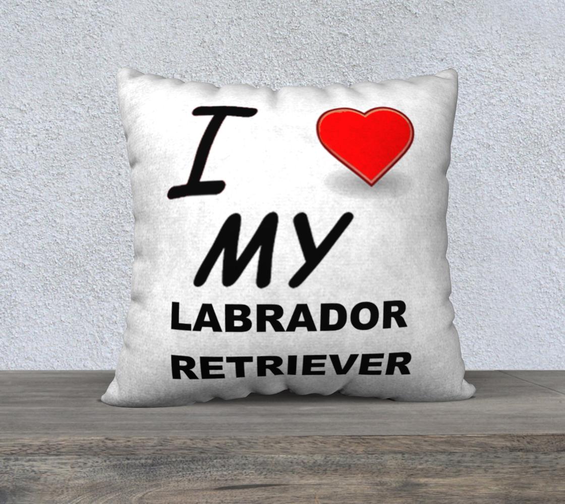 Labrador Retriever love pillow case preview