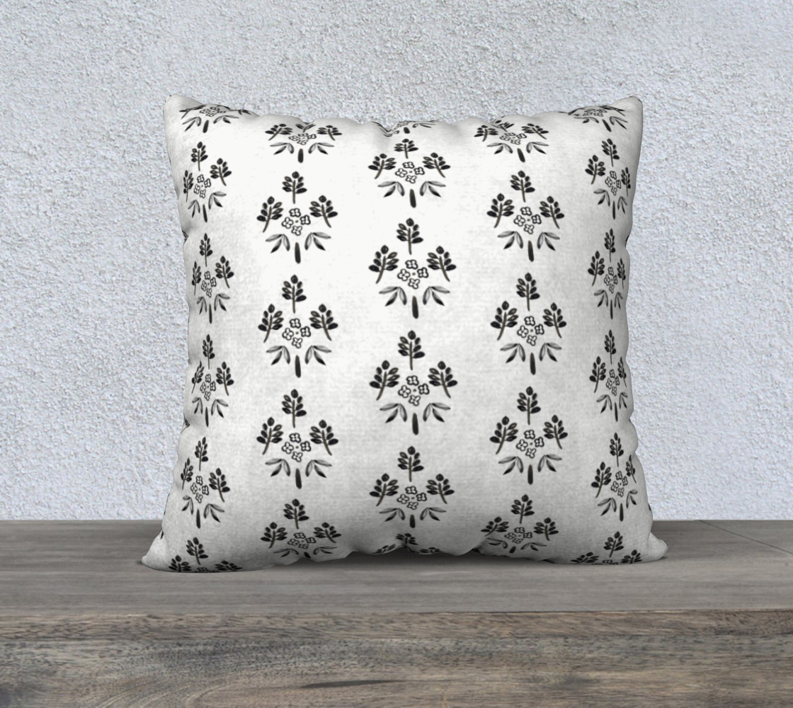 Aperçu de Black and white motif pillow #2
