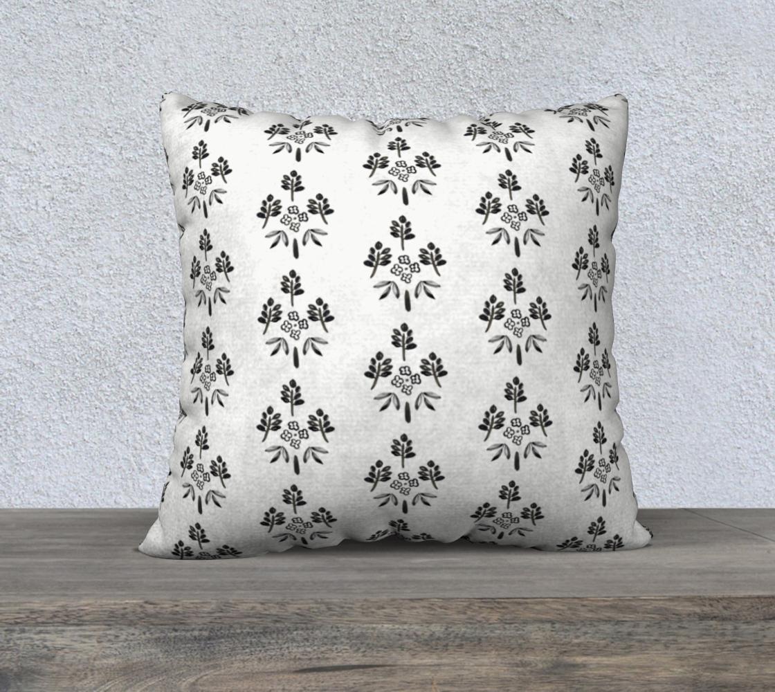 Aperçu de Black and white motif pillow #1