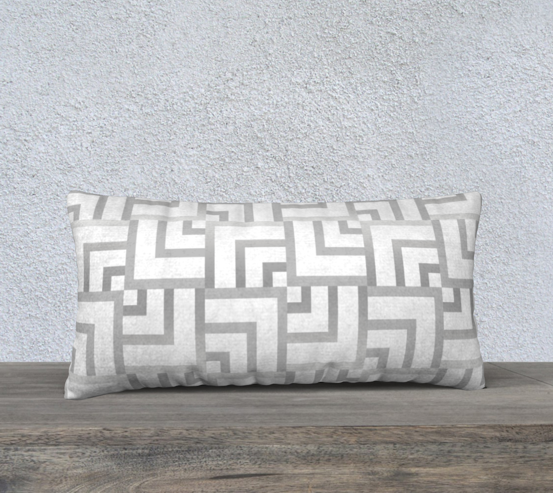 "White and Silver Squares 24"" x 24"" Pillow Case preview"