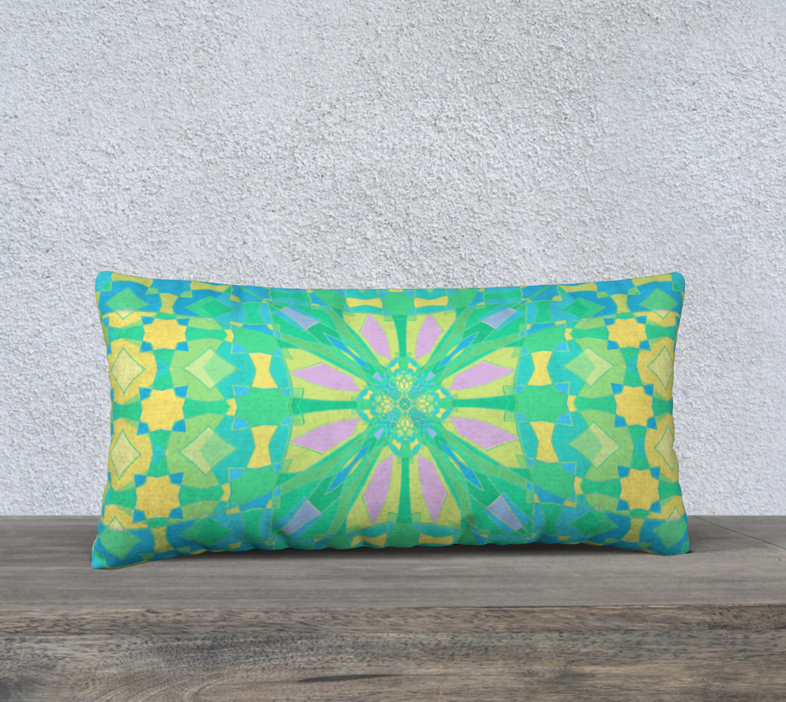 Pastel Blue and Green Kaleidoscope preview