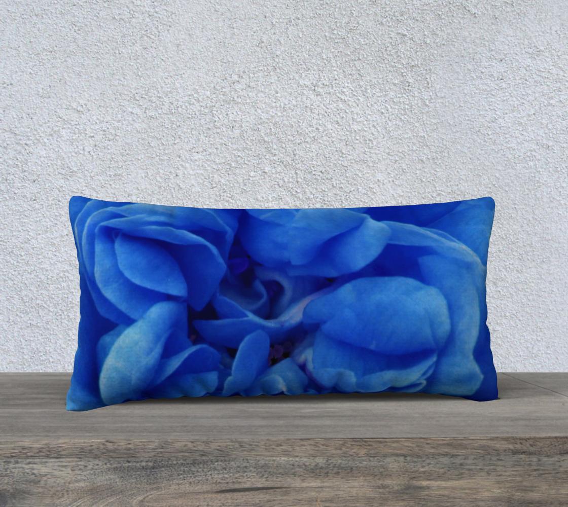 Aperçu de Blue Rose Pillow 24X12 160626a