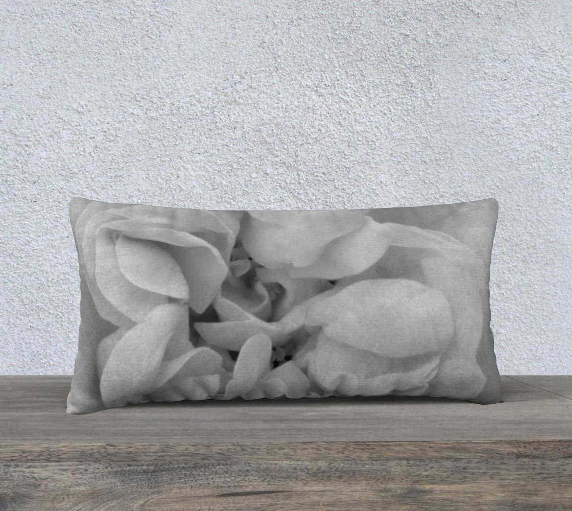 Aperçu de Light Gray Rose Pillow 24X12 170614a