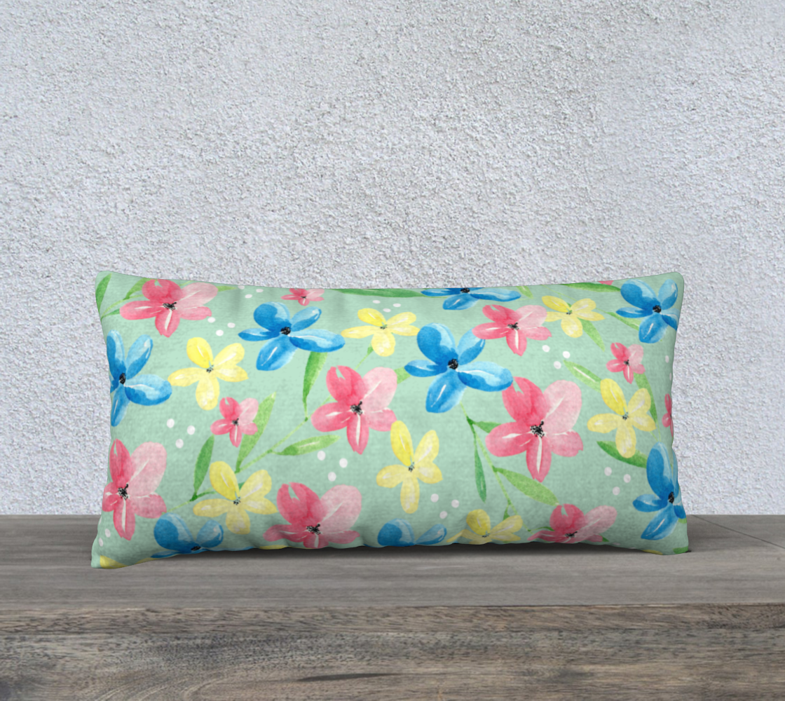 Green Floral Pillow Case 24 preview