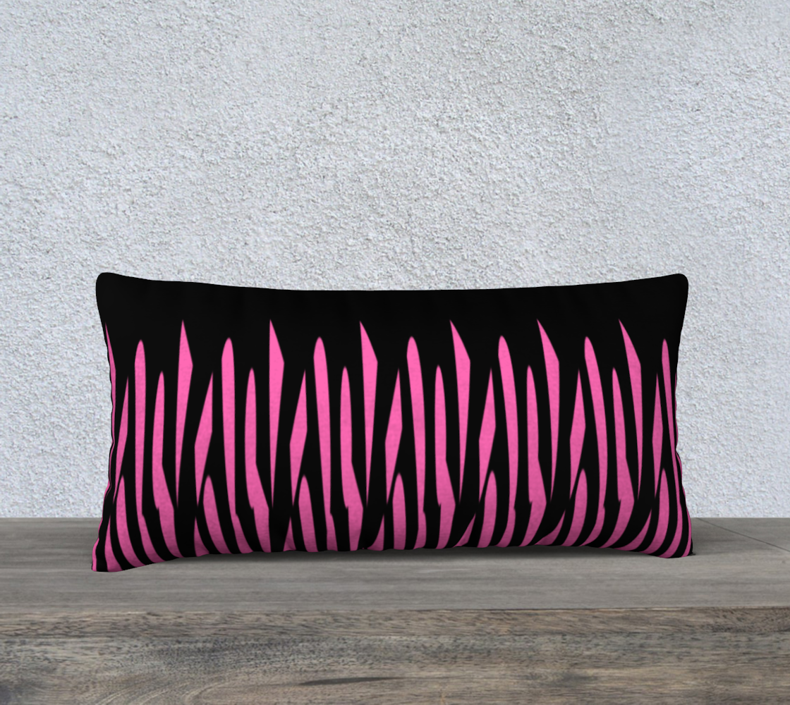 Pink and Black Ice Abstract Pillow Case 24 preview