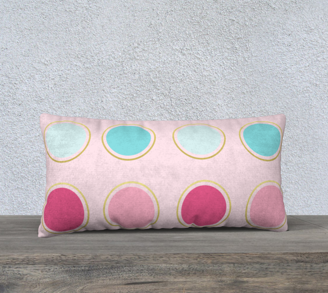 Pink and Teal Polka Dot Pillow Case 24 preview