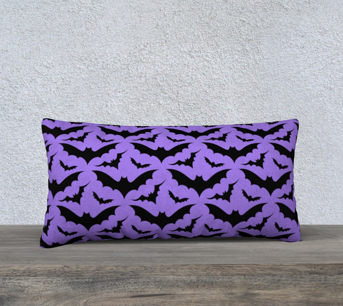 Purple Bats Pillow Case preview