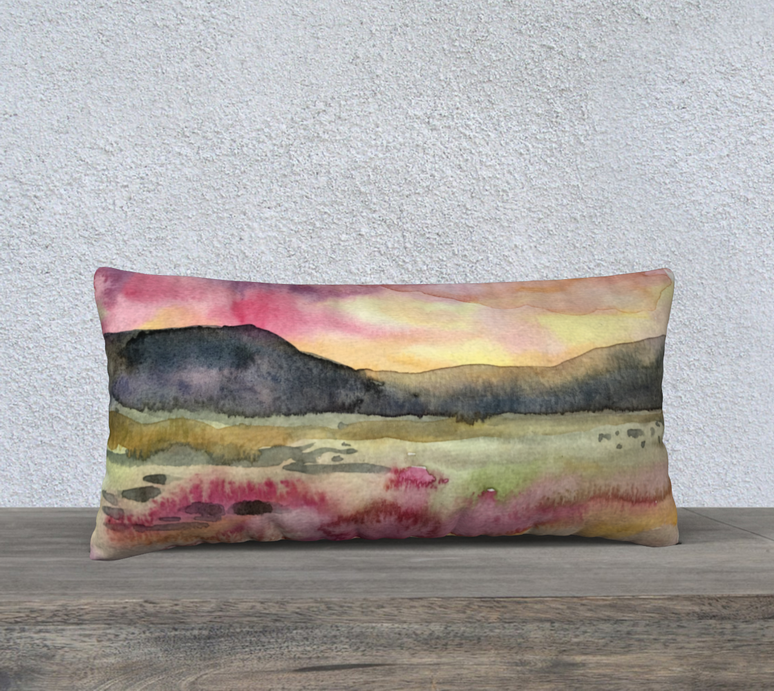 Coussin 24x12 paysage rose preview