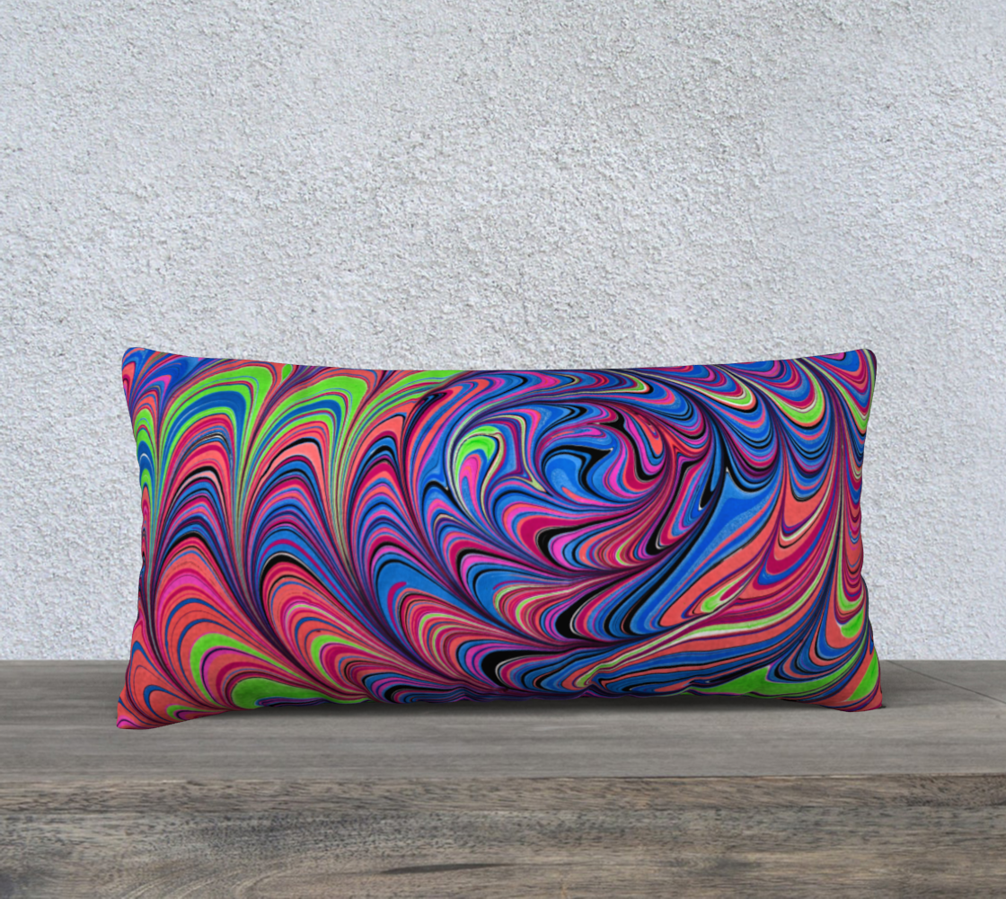 Coussin illusion 24x12 Marbling art preview