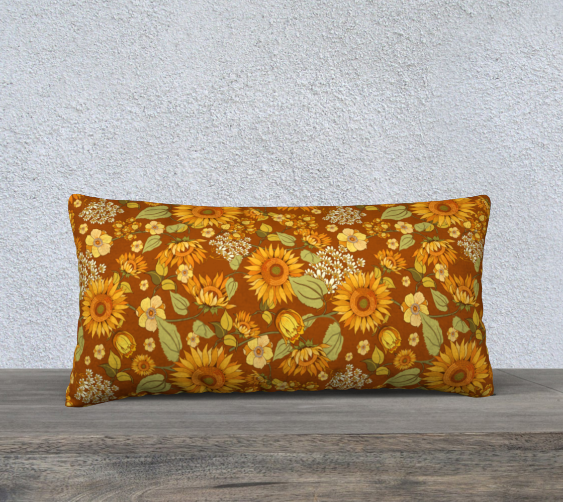70s Sunflower Vintage 24x12 preview