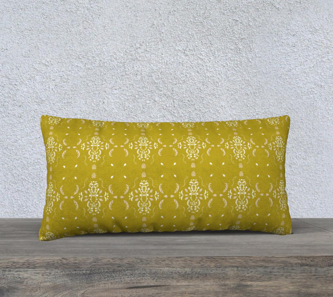 Aperçu de Mustard damask cover 24x12