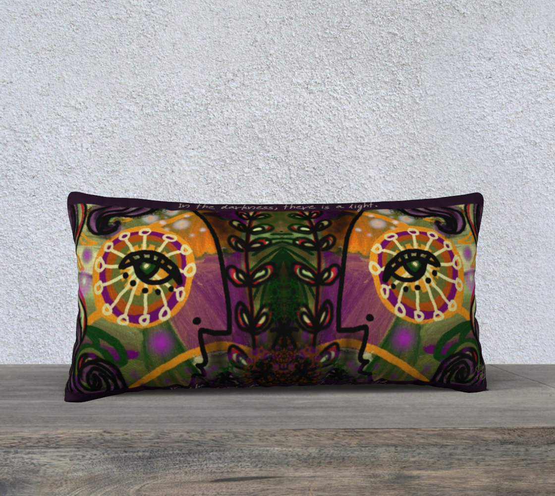A Light In the Darkness Long Pillow preview