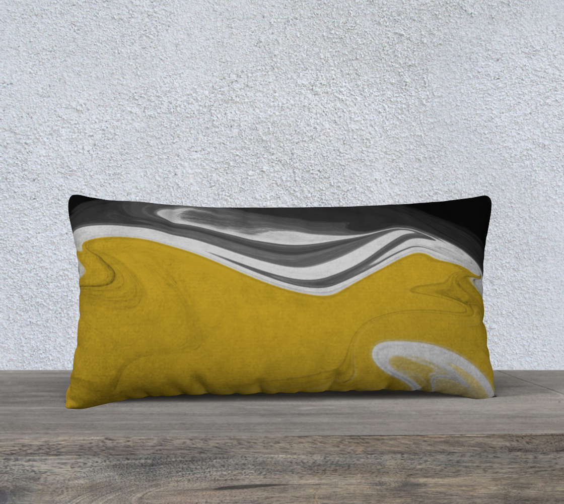 Liquid Black Gold 24x12 Pillow Case preview #2