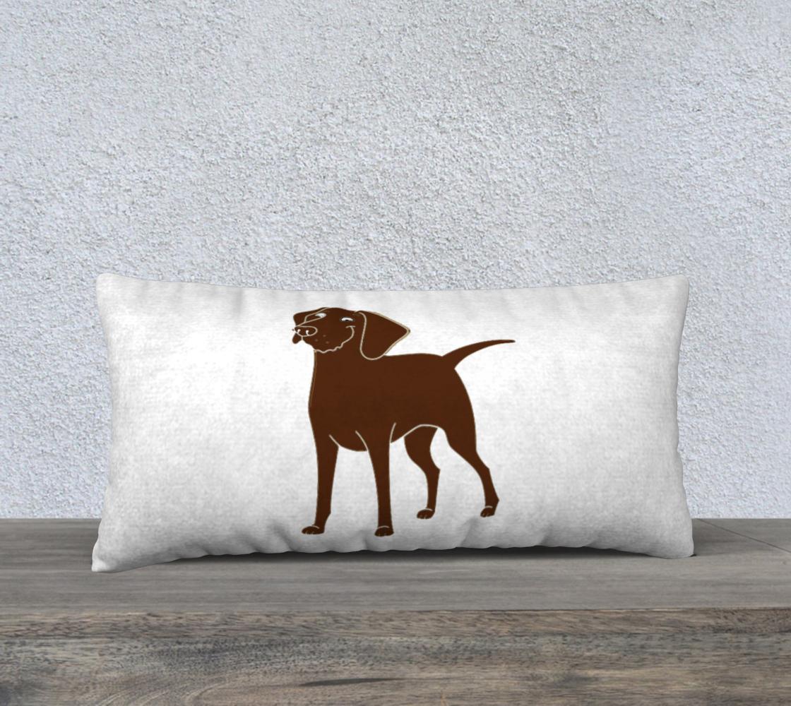 Labrador Retriever chocolate cartoon 24 x 12 pillow case preview