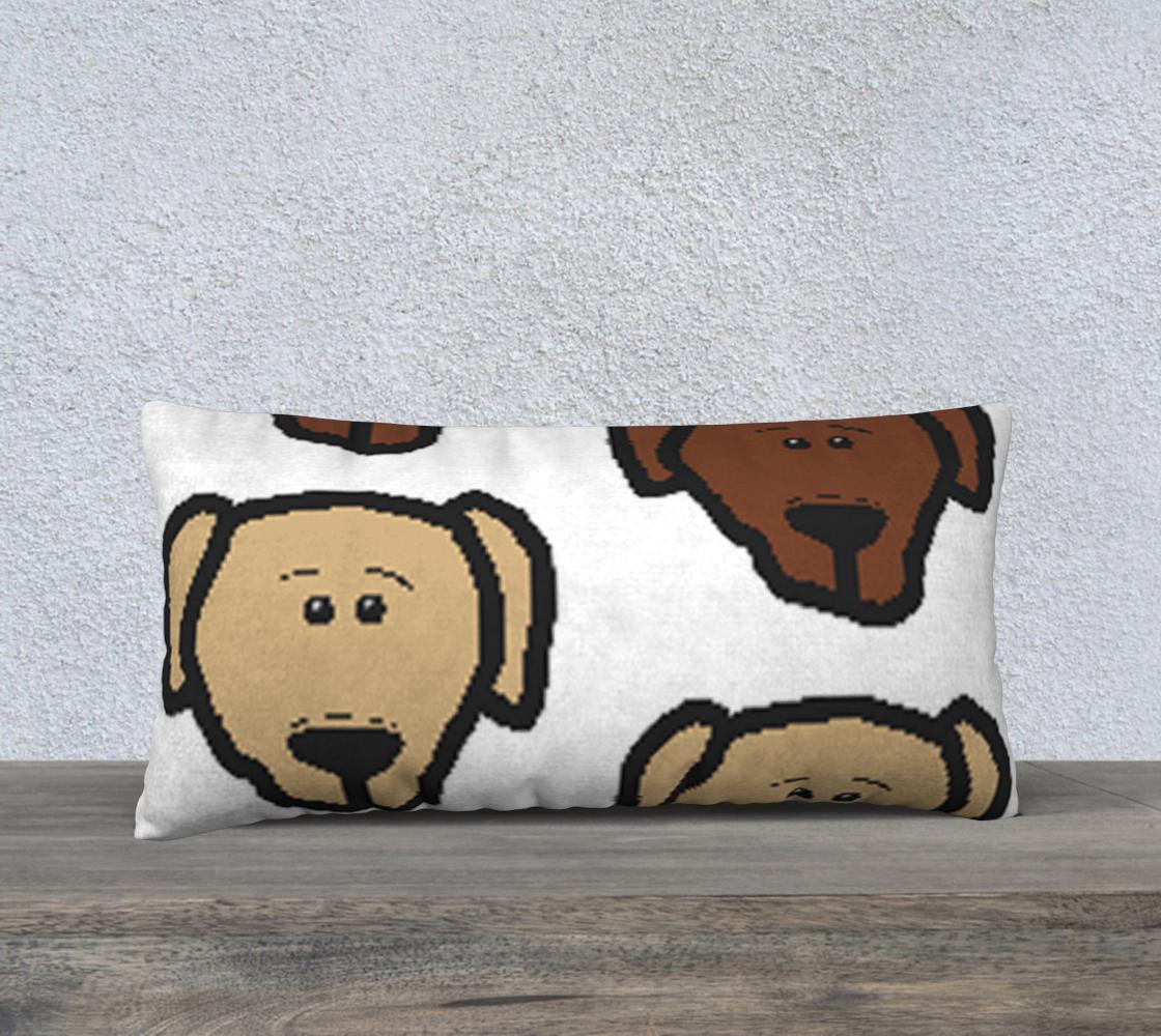 Labrador Retriever all 3 colors cartoon heads 24 x 12 pillow case preview
