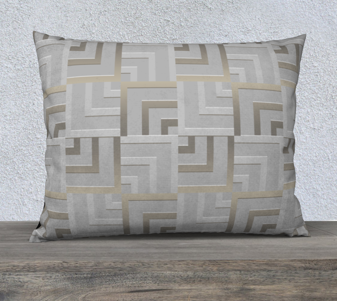 """Bronze and Silver Squares 26"""" x 20"""" Pillow Case preview"""