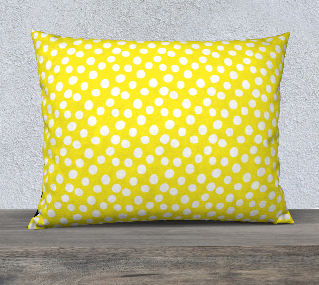 "All About the Dots Pillow Case - 26""x20"" Yellow preview"