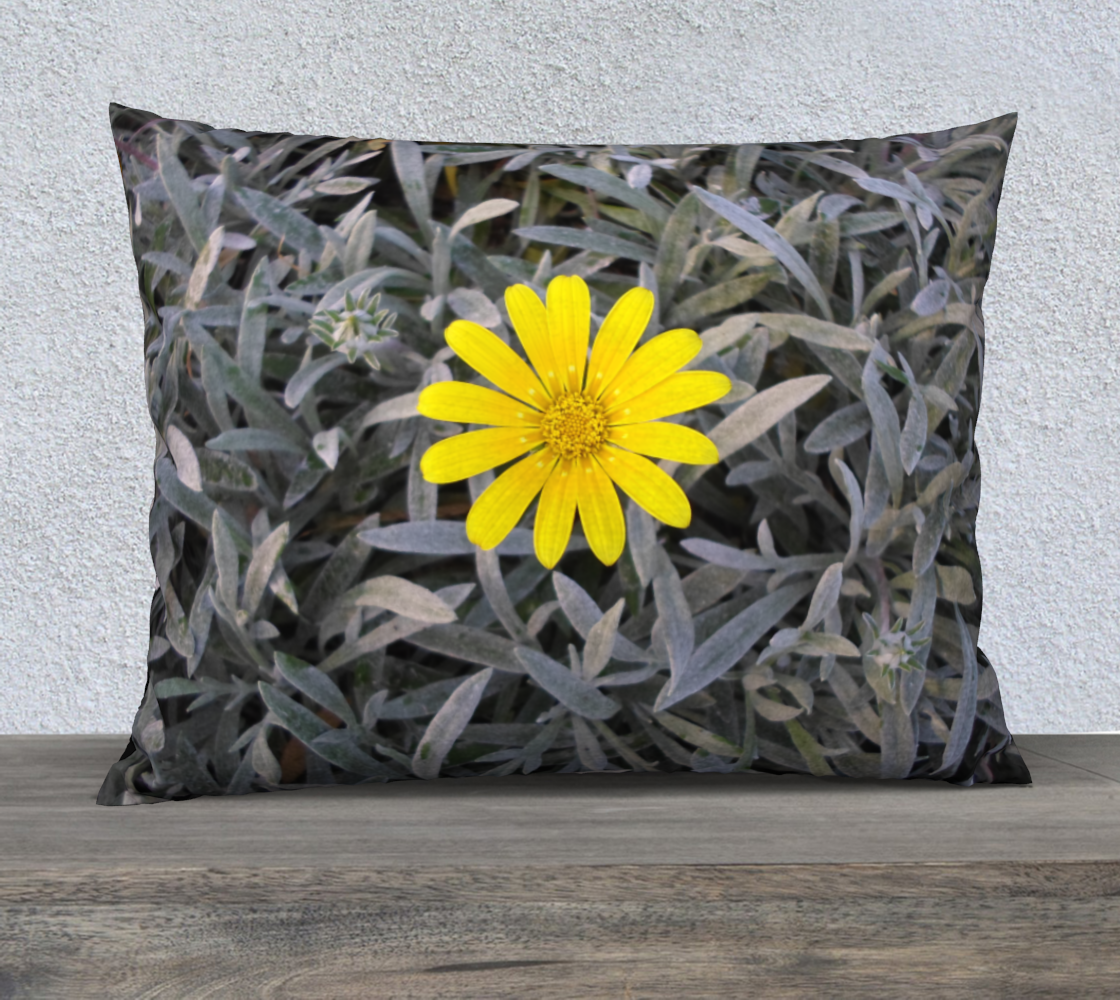 Yellow Daisy Flower Pillow Case 26x20 preview
