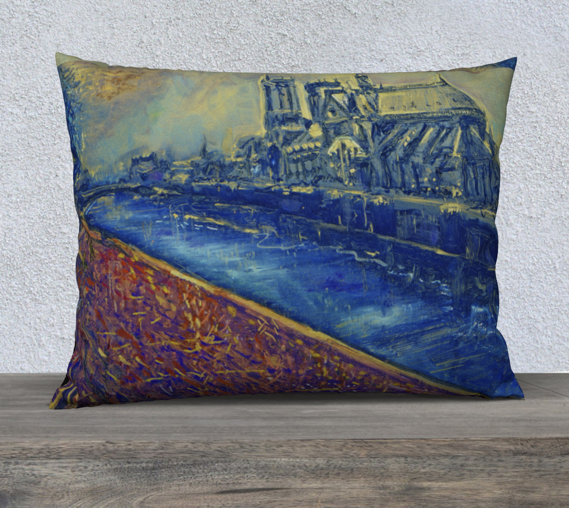 """""""Notre Dame Tribute: 4-15-19 by Lowell S.V. Devin"""" / Commemorative Pillow Case, preview"""