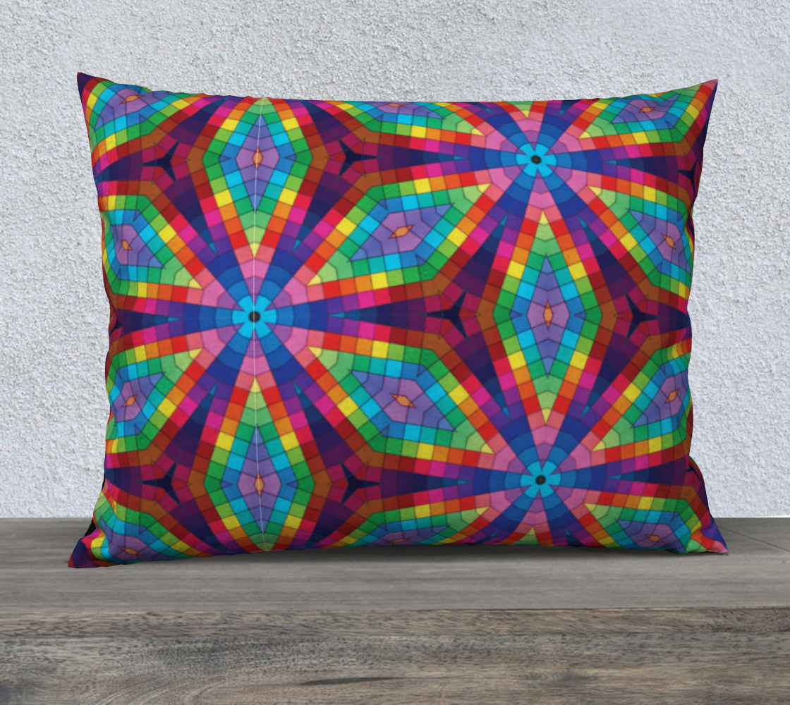 Aperçu de Kaleidoscope Rainbow Pillow Case