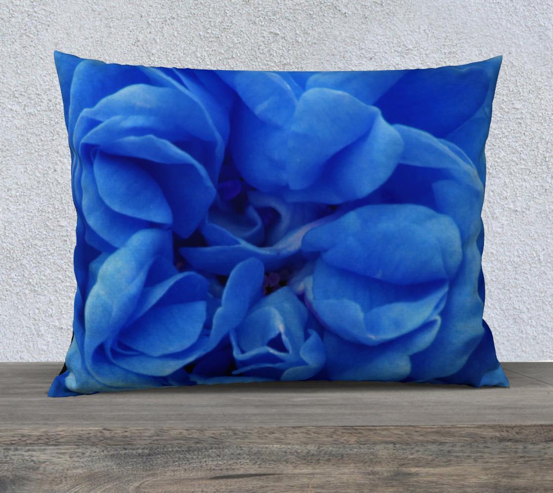 Aperçu de Blue Rose Pillow 26X20 160626a