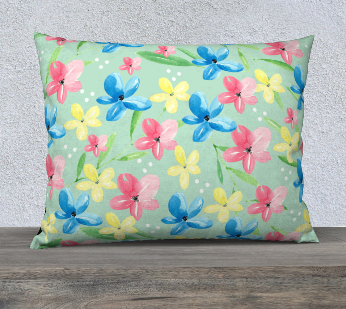 Green Floral Pillow Case 26 preview