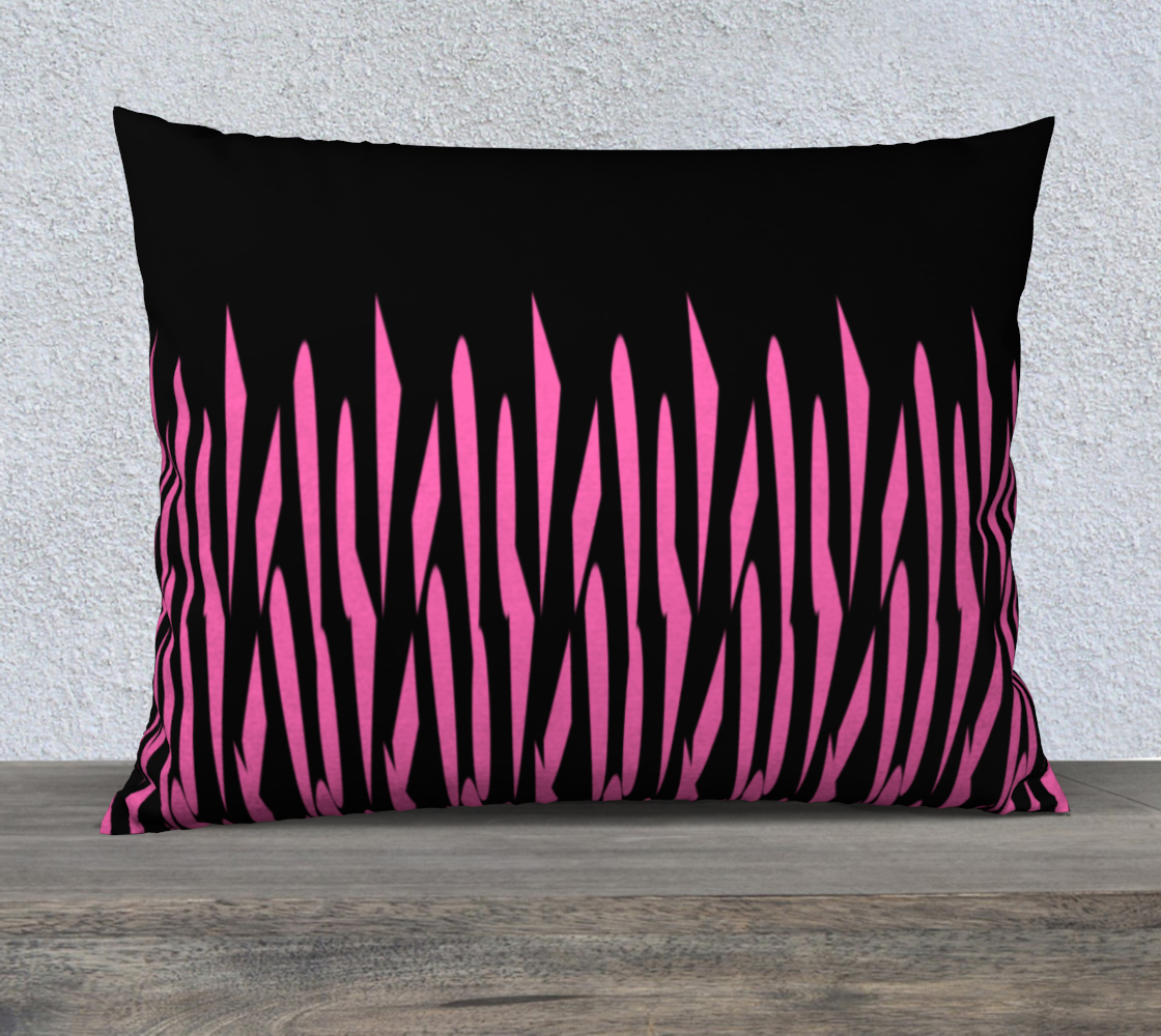 Pink and Black Ice Abstract Pillow Case 26 preview