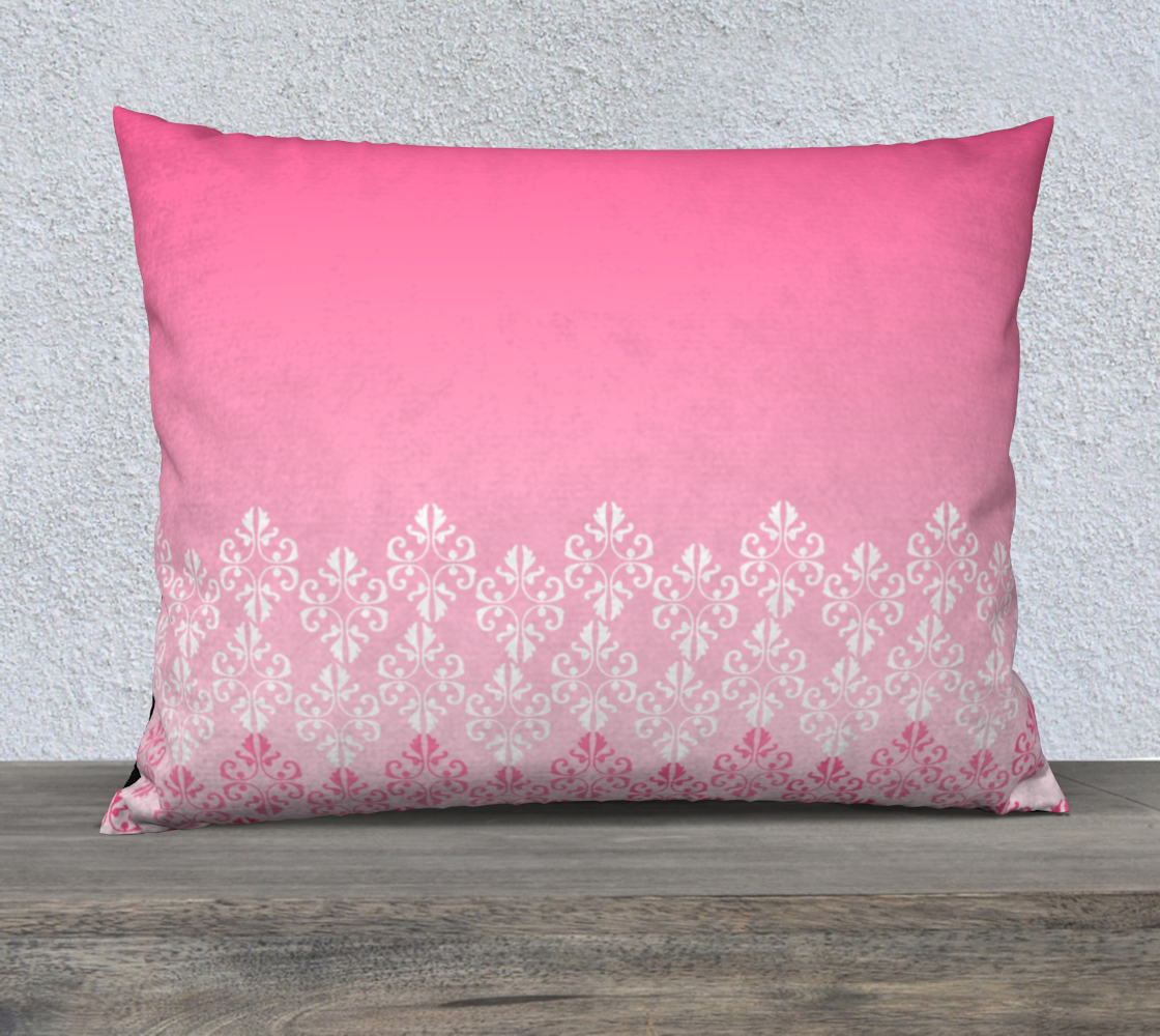 Pink Ombre Damask Pattern Pillow Case 26 preview