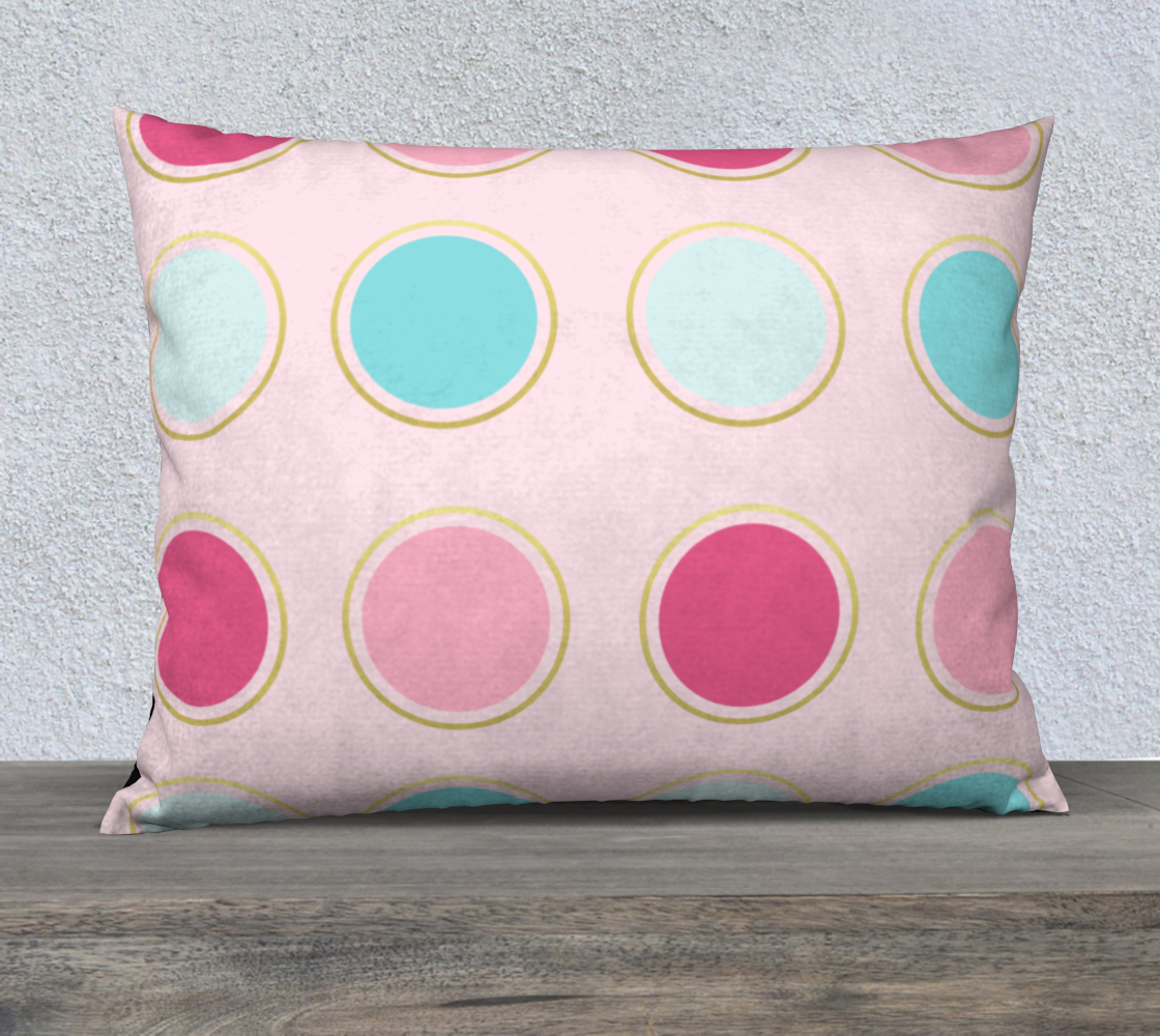 Pink and Teal Polka Dot Pillow Case 26 preview