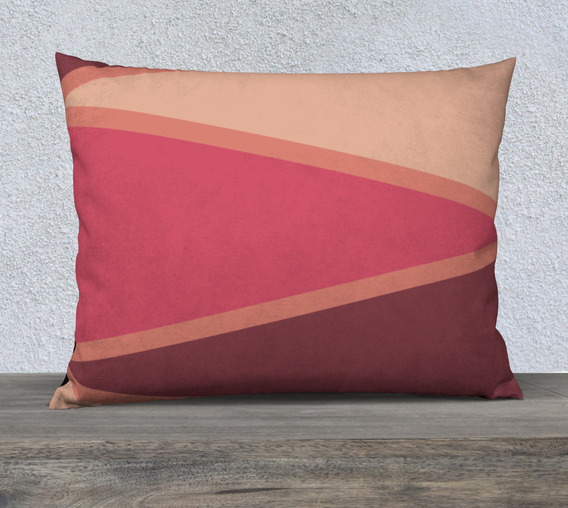 "Romantic Blush Triangle Pattern Pillow Case 26"" x 20"" preview"