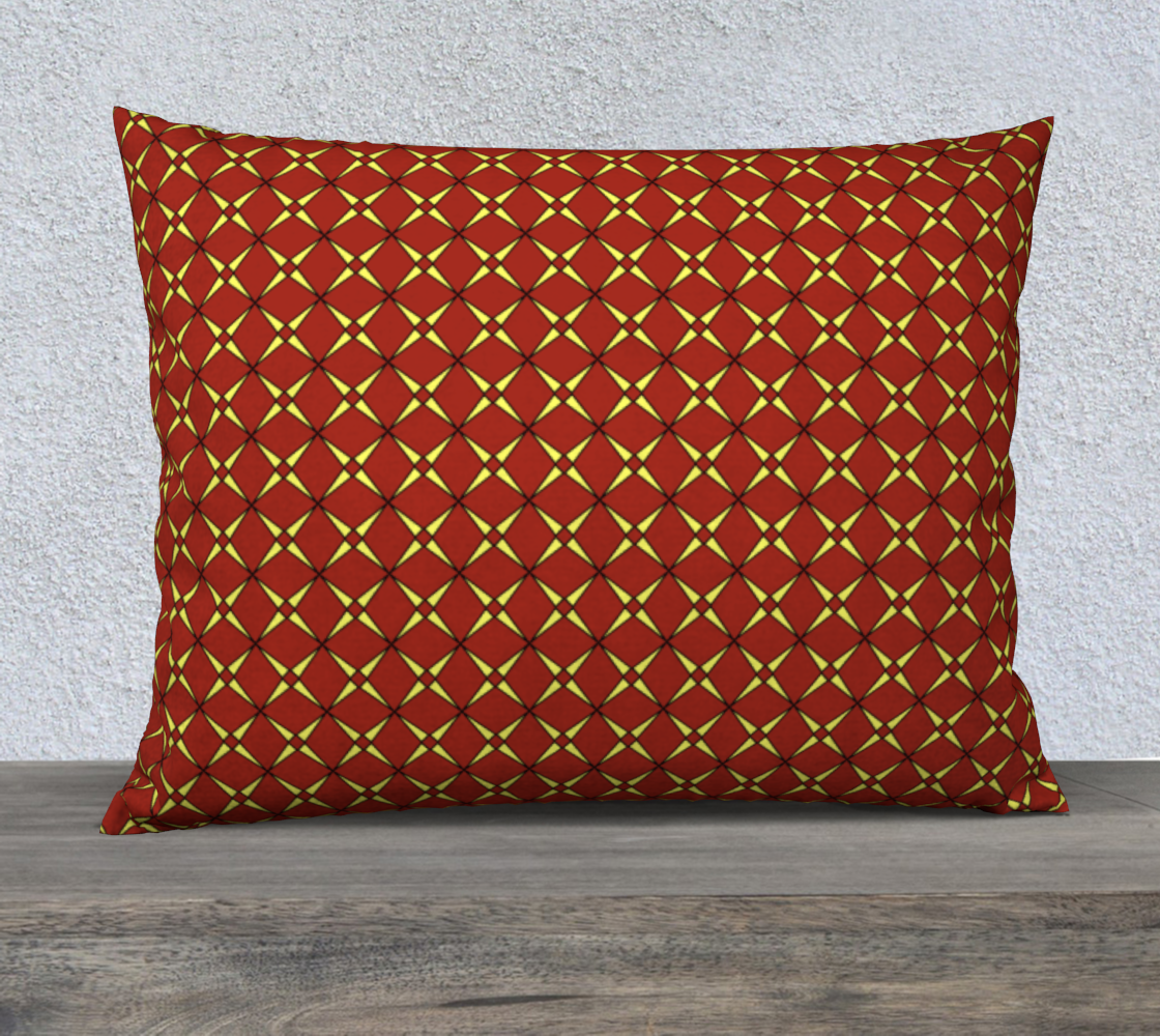 Yellow Stars on Terracotta preview