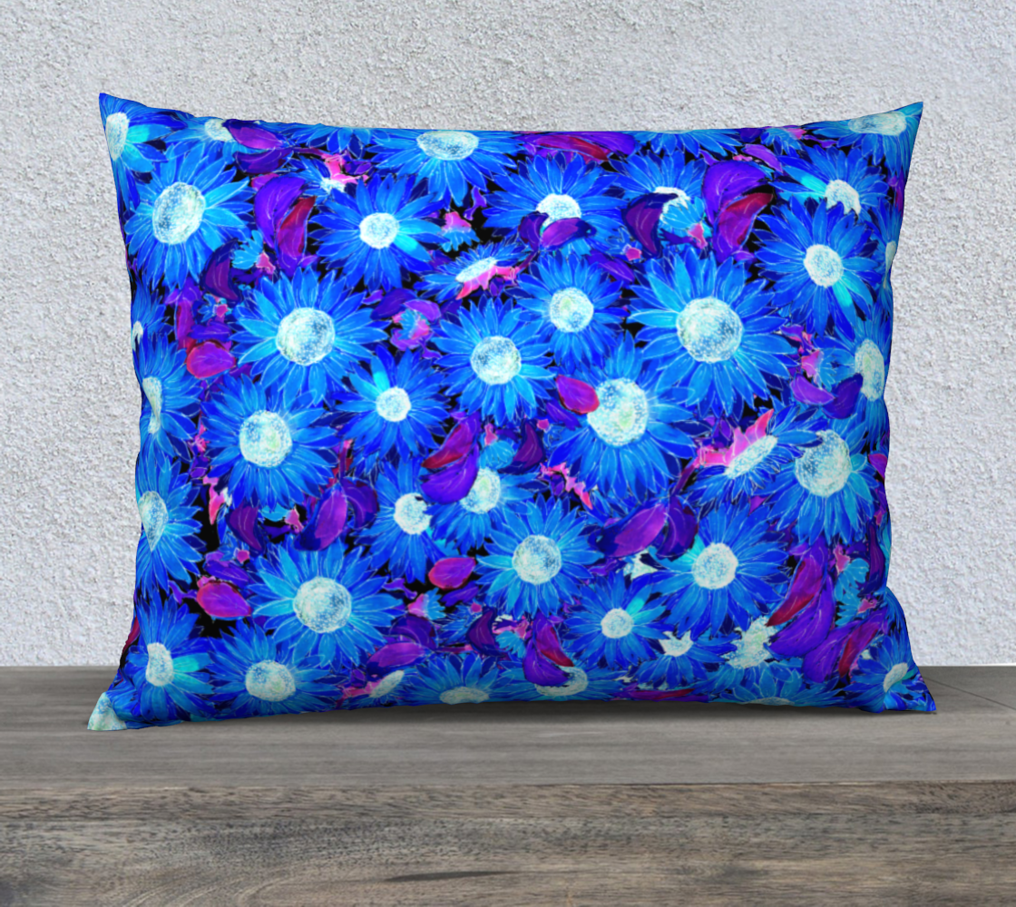 Blue and Purple Sunflowers Pattern Pillow Case preview