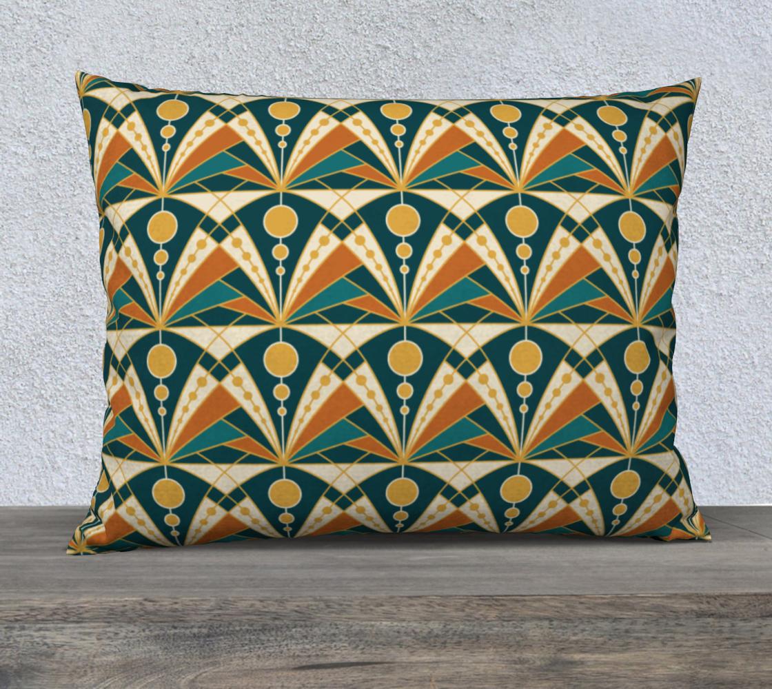 Aperçu de Art Deco (Green, rusty and gold)