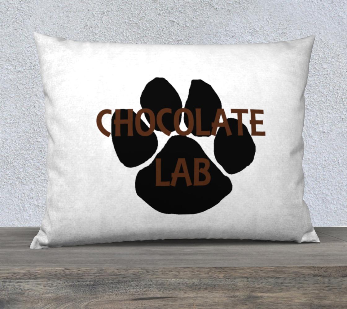 Labrador Retriever chocolate name paw 26 x 20 pillow case preview