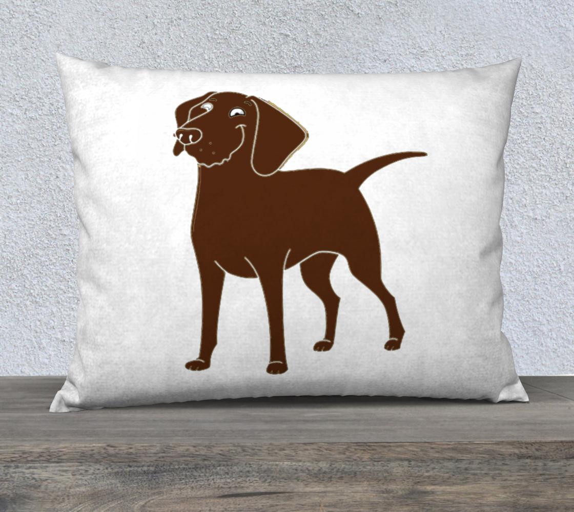 Labrador Retriever chocolate cartoon 26 x 20 pillow case preview
