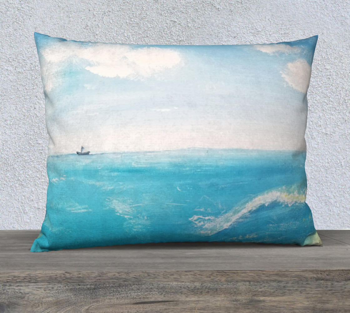 ship in the ocean 26x20 pillow case preview