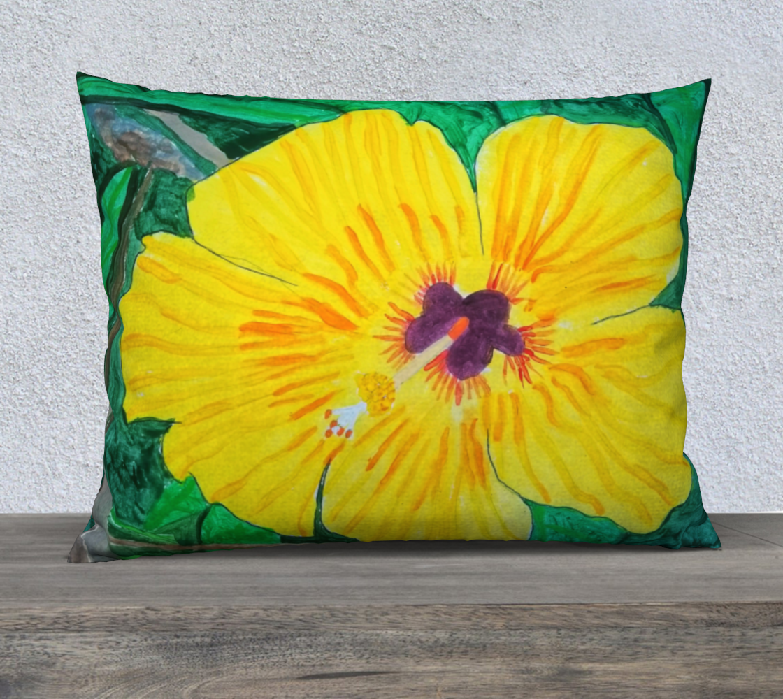 tropical flower 26x20 pillow case preview