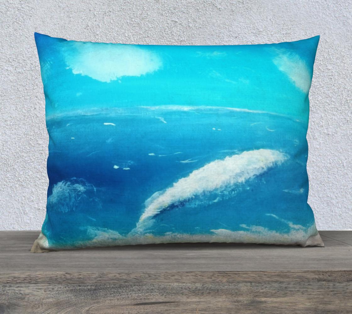 ocean wave 26x20 pillow case preview